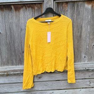 Rachel Parcell yellow mustard sweater